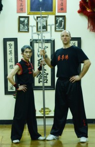 Sifu Alan (right) with Master Chan Yong Fa.